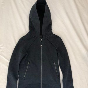 Lululemon dark gray fullzip hooded coat